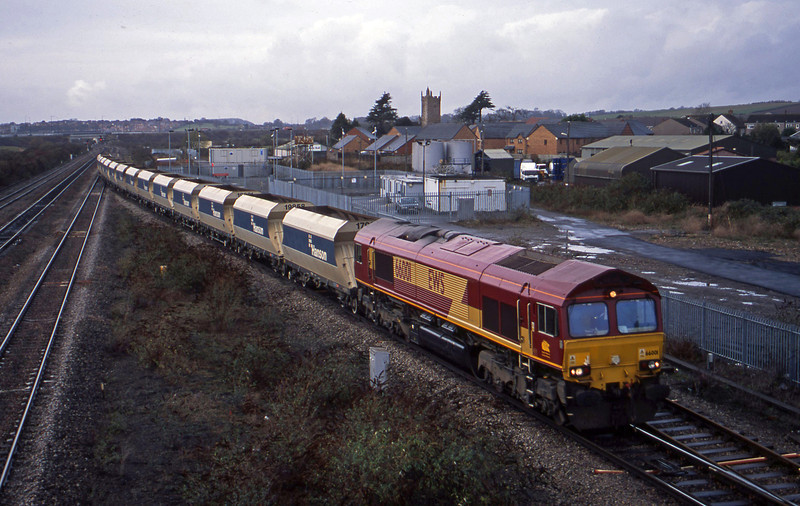 66001, 12.15 Machen Quarry-Westbury, Severn Tunnel Junction, 25-11-03.