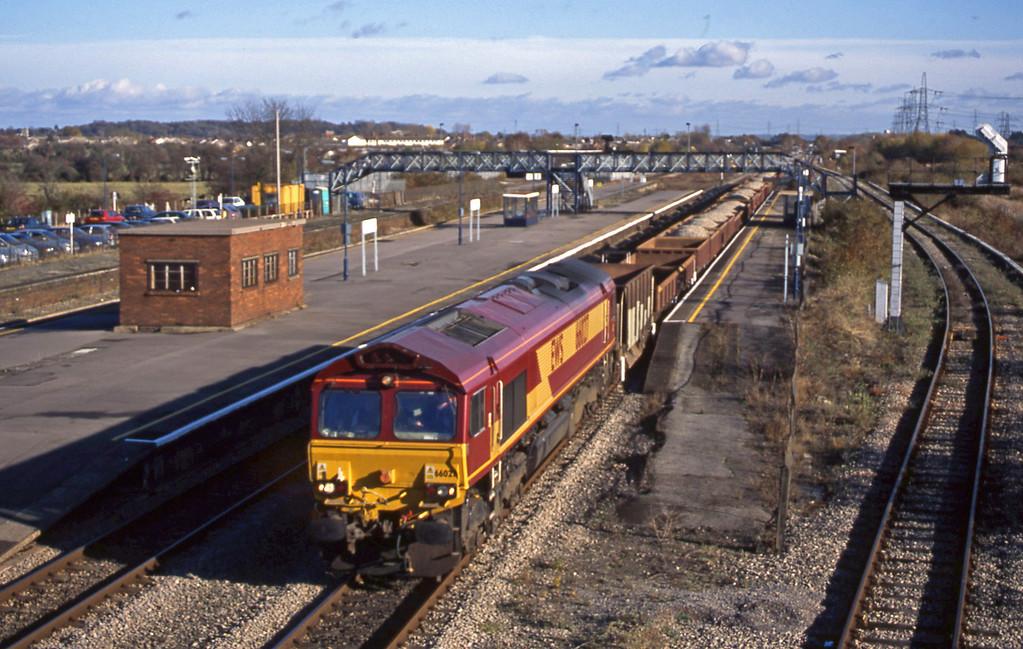 66027, 11.10 Westbury-Newport Alexandra Dock Junction, Severn Tunnel Junction, 12-11-03.