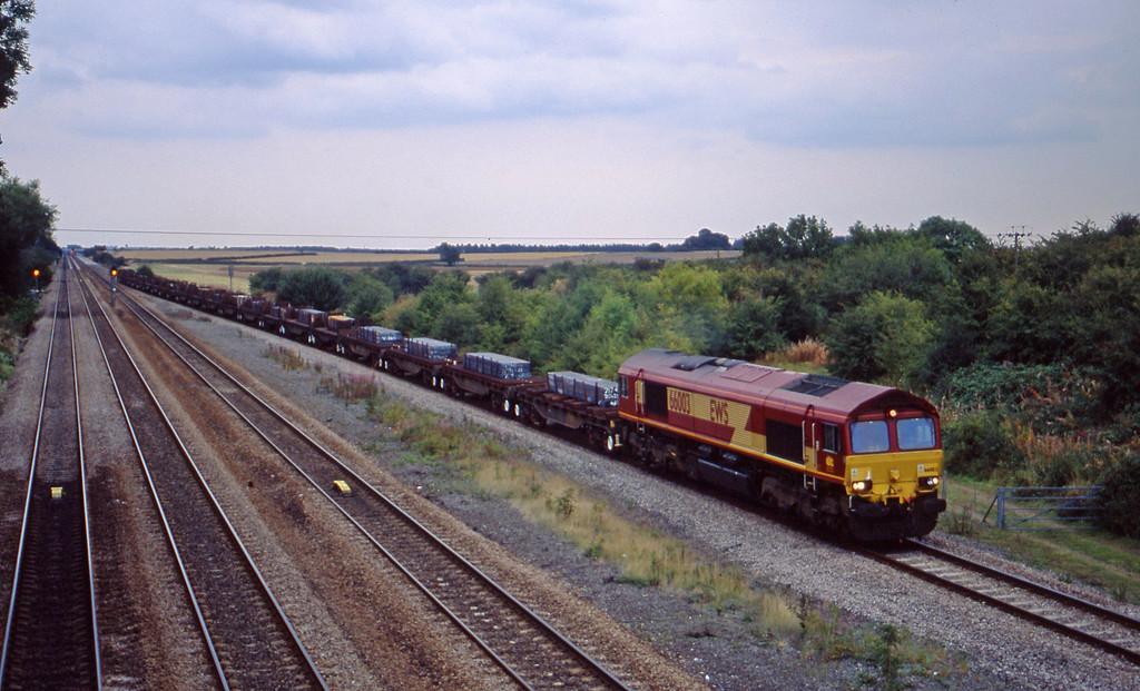 66003, 12.59 Lackenby-Llanwern, Bolton Percy, near York, 8-9-03.