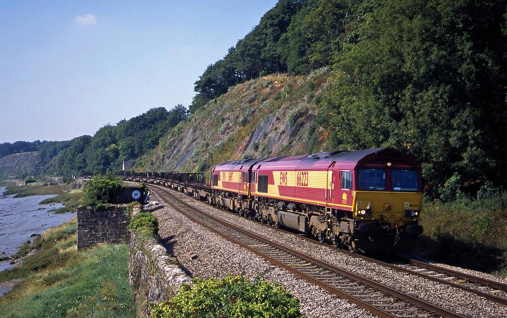 66223/66097, 11.42 Llanwern-Lackenby, Gatcombe, near Lydney, 4-9-03.
