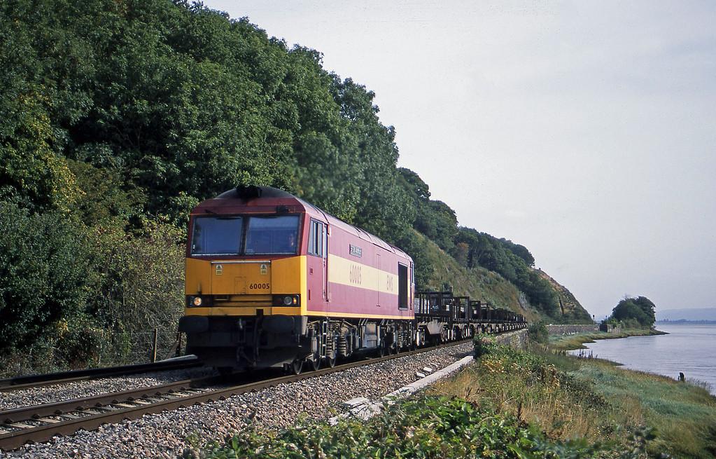 60005, 00.43 Lackenby-Llanwern, Gatcombe, near Lydney, 12-9-03.