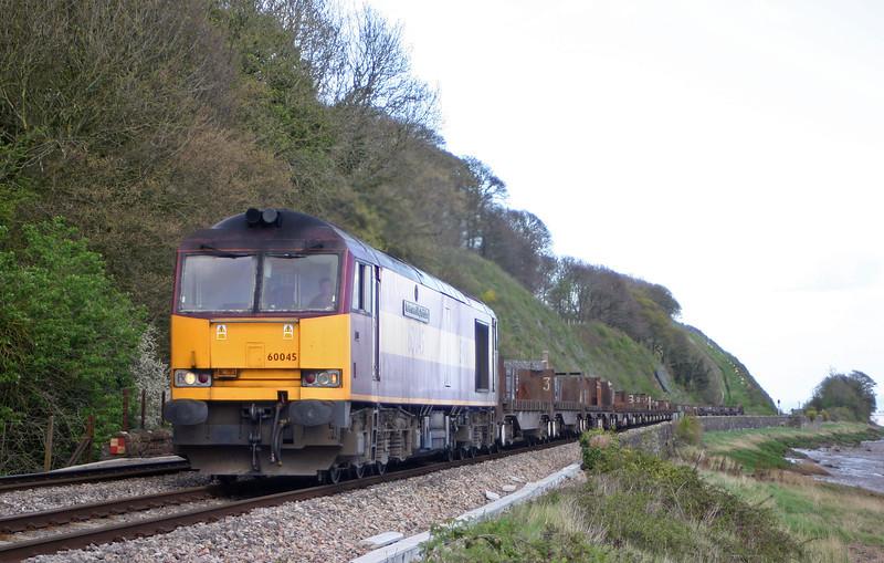 60045, 06.02 Lackenby-Llanwern, Gatcombe, near Lydney, 22-4-04.