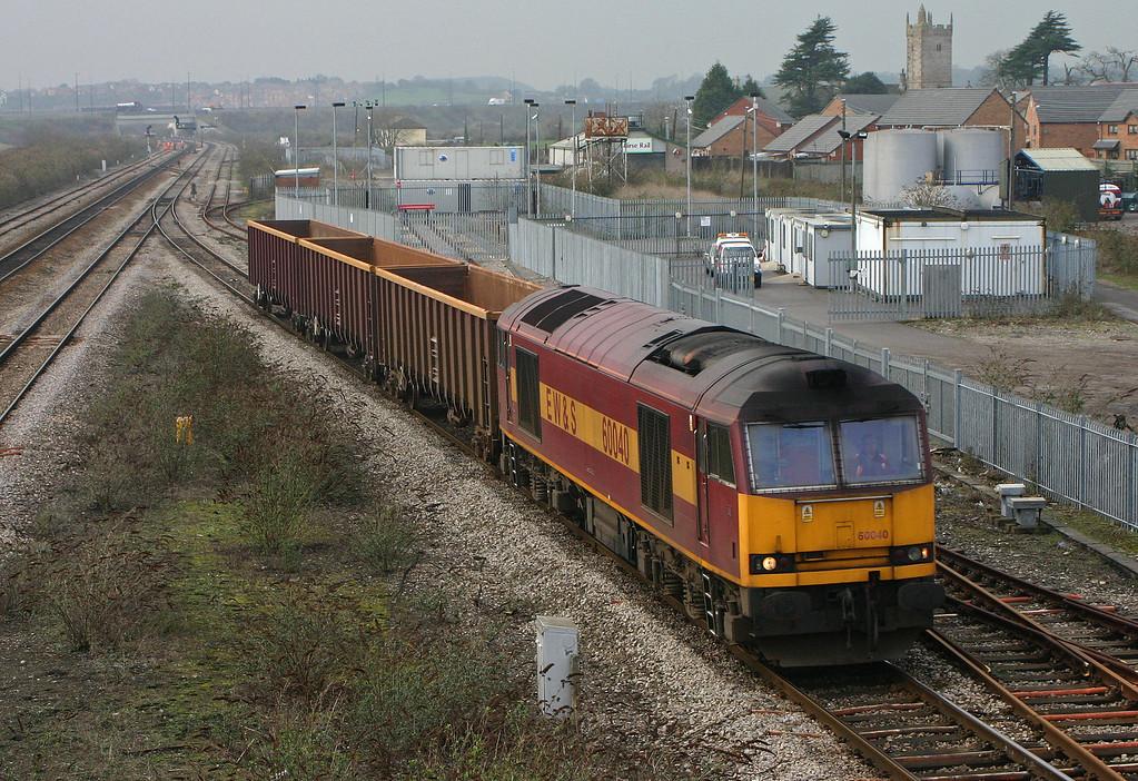 60040, 17.10 Newport Alexandra Dock Junction-Westbury Yard, Severn Tunnel Junction, 17-2-04. Early.
