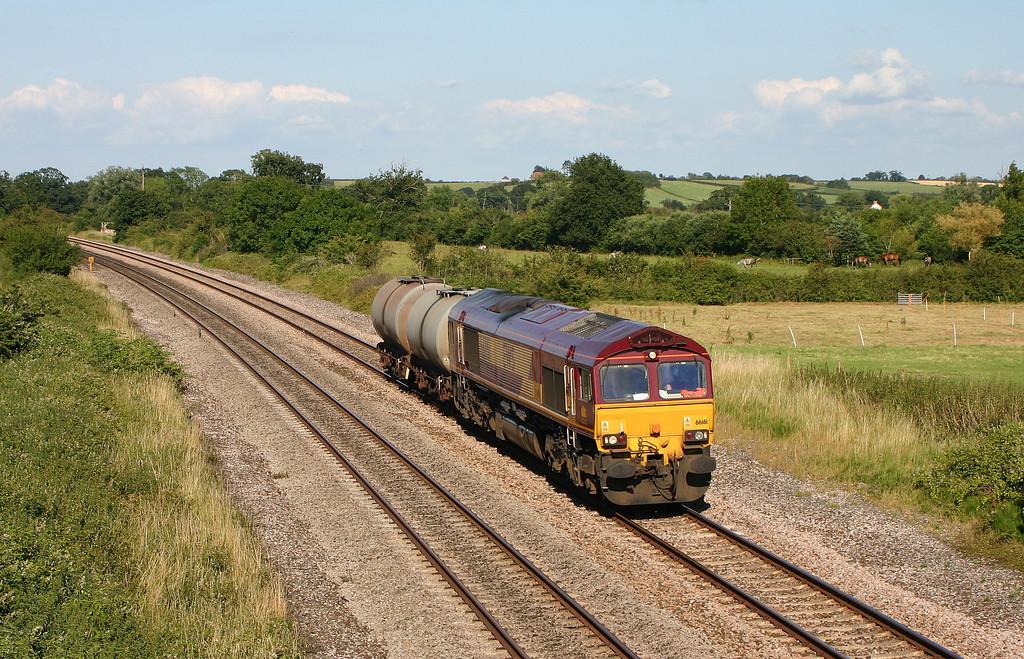 66161, 13.34 Fawley-Plymouth Tavistock Junction, Creech St Michael, near Taunton, 5-7-04.