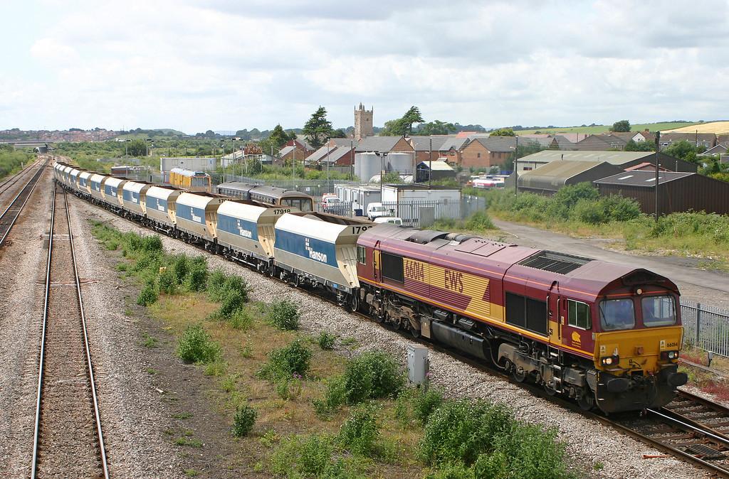 66014, Machen Quarry-Westbury Yard, Severn Tunnel Junction, 3-7-04.