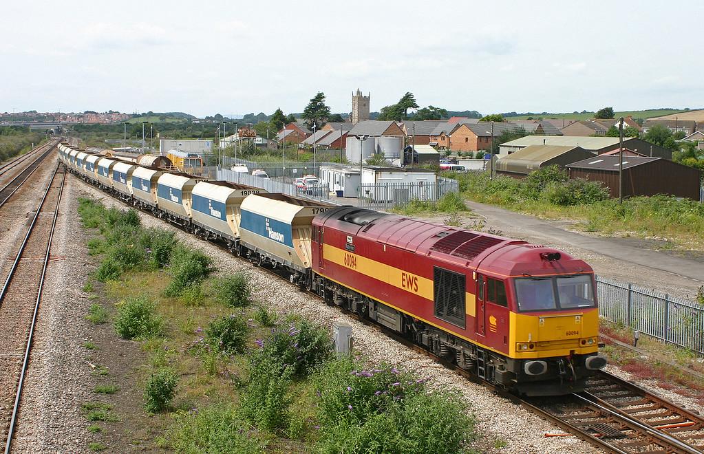 60094, Machen-Westbury Yard, Severn Tunnel Junction, 24-7-04.