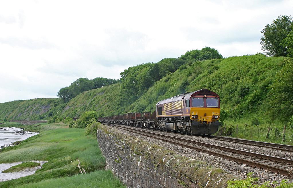 66182, 12.10 Llanwern-Lackenby, Gatcombe, near Lydney, 5-6-04.