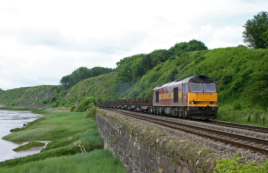 60001, 09.40 Margam-Lackenby, Gatcombe, near Lydney, 5-6-04.