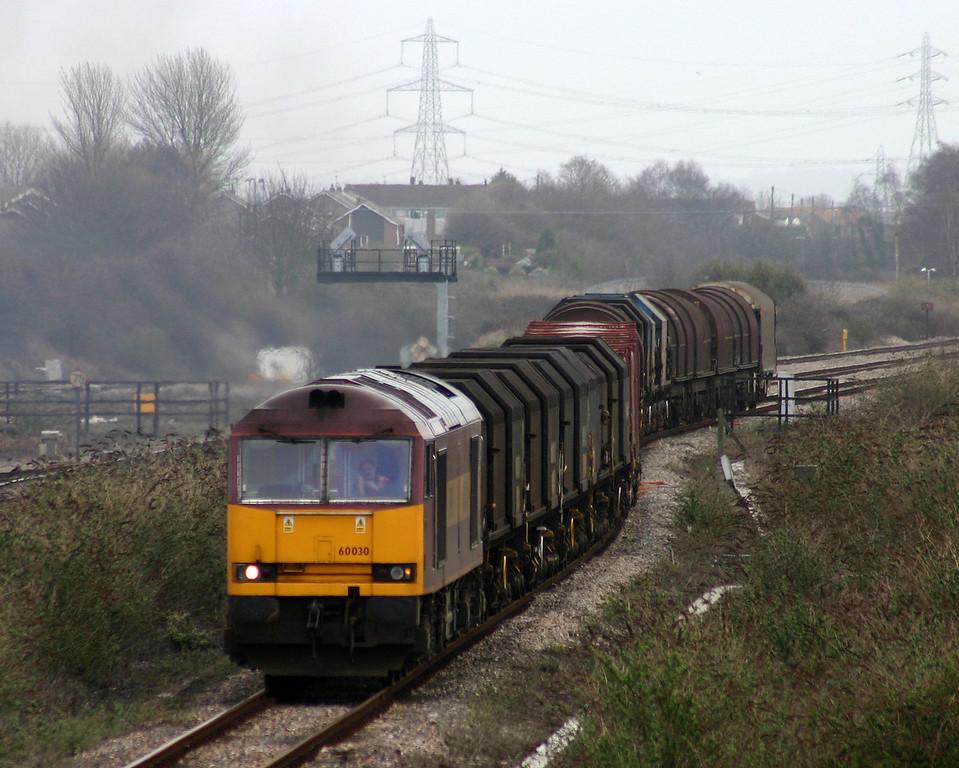 60030, 09.25 Round Oak-Margam, Severn Tunnel Junction, 17-3-04.