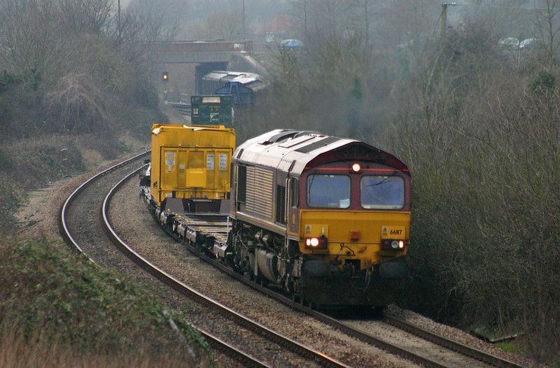 66117, 13.22 Avonmouth-Wembley, Brentry, Bristol, 3-3-04.