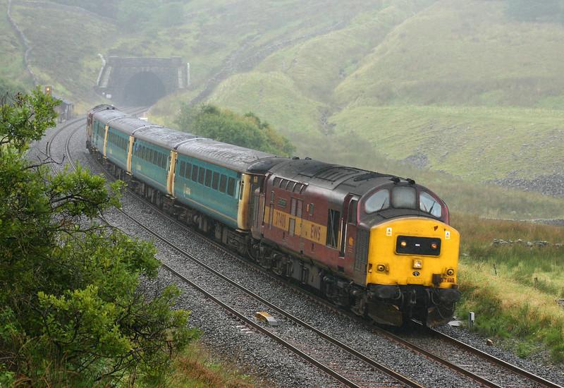 37408/37411, 09.47 Leeds-Carlisle, Blea Moor Tunnel, 14-9-04.
