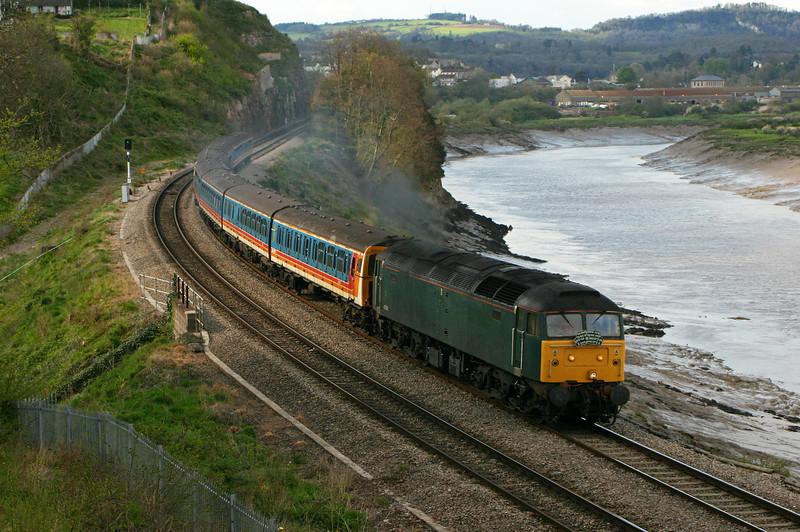47830, Shoeburyness-Caerwent, <br /> Bulwark, Chepstow, 14-4-05, with 3456 and 3405.