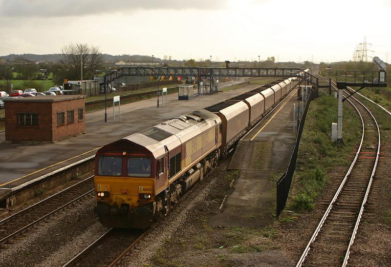 66025, 07.00 Avonmouth Bulk Handling Terminal-Aberthaw Power Station, via Gloucester, Severn Tunnel Junction, 5-4-05.