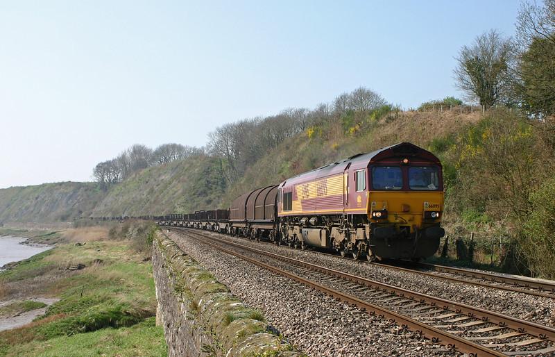 66095, 12.10 Llanwern-Lackenby, Gatcombe, 2-4-05.