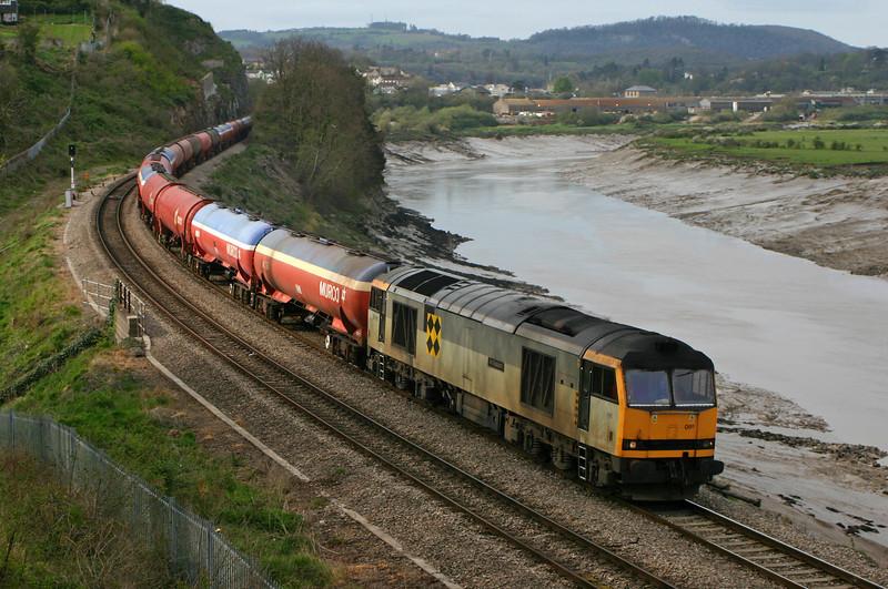 60091, 13.30 Theale-Robeston, diverted, Bulwark, Chepstow, 12-4-05.
