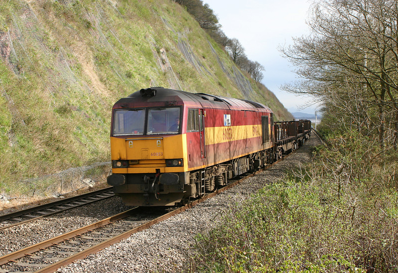 60053, 00.51 Lackenby-Llanwern, Gatcombe, 4-4-05.