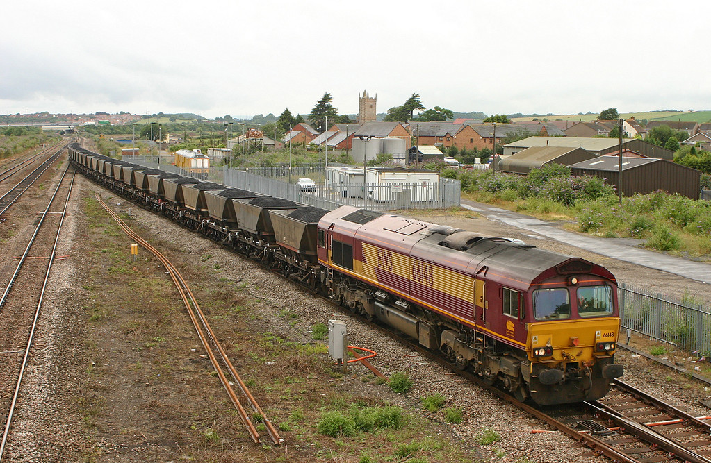 66148, 10.03 Parc Slip-Westbury Cement Works, Severn Tunnel Junction, 18-7-05.