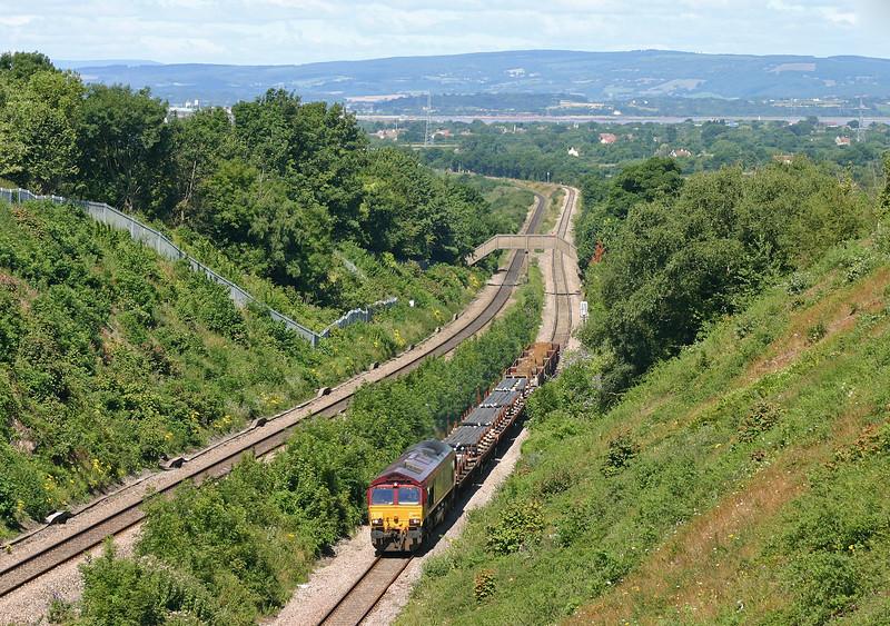 66058, 10.10 Cardiff Tidal-Colnbrook, Cattybrook, near Bristol, 21-7-05.
