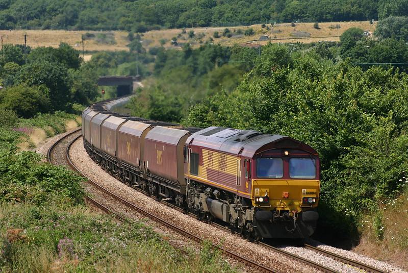 66084, 12.46 Avonmouth Bulk Handling Terminal-Didcot Power Station, Brentry, Bristol, 21-7-05.