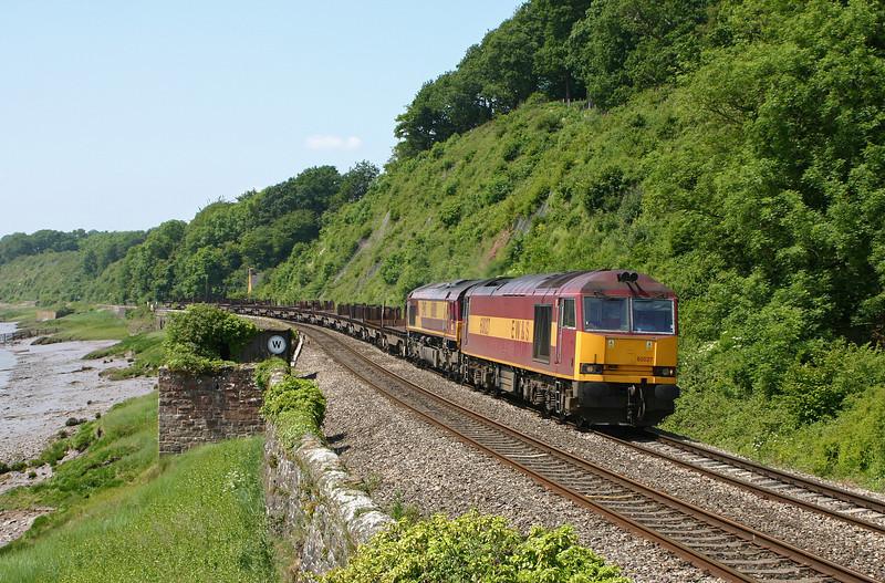 60027/66086, 11.14 Llanwern-Lackenby, Gatcombe, 8-6-05.