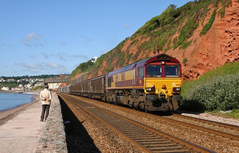 66131, 07.39 Plymouth Tavistock Junction-Dollands Moor, Dawlish, 13-6-05.