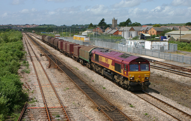 66124, Llanwern-Round Oak, Severn Tunnel Junction, 15-6-05.