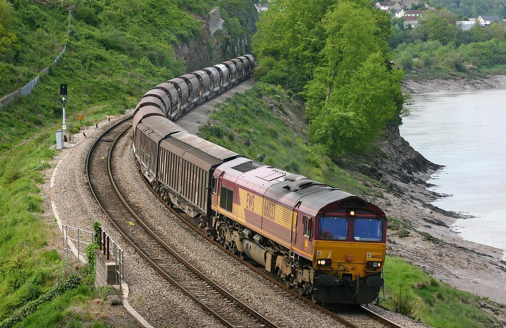 66033, 11.50 Cliffe Vale-Cardiff Tidal, Bulwark, Chepstow, 6-5-05.