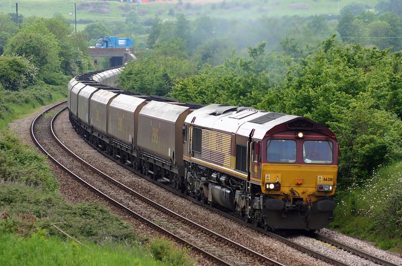 66201, 12.46 Avonmouth Bulk Handling Terminal-Didcot, Brentry, Bristol, 26-5-05.