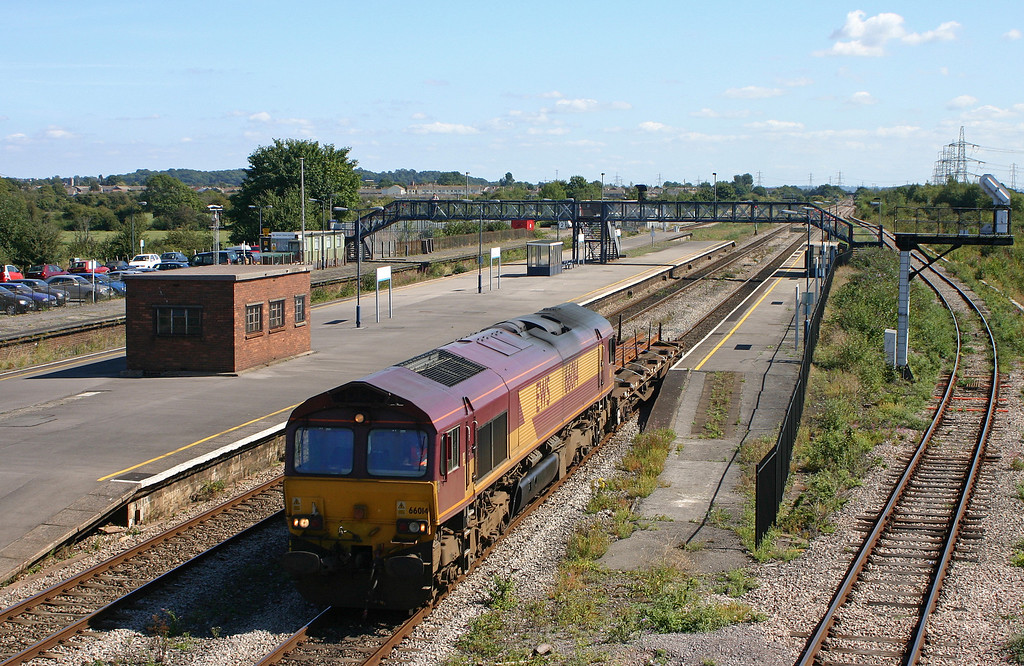 66014, 11.15 Westbury Yard-Newport Alexandra Dock Junction, Severn Tunnel Junction, 2-9-05.