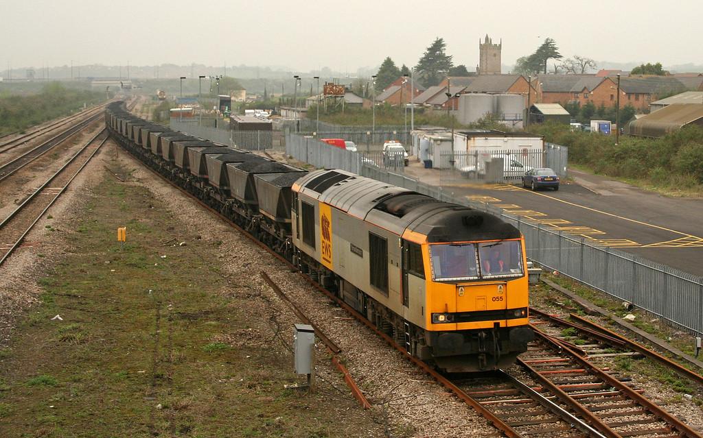 60055, 10.13 Parc Slip-Westbury Cement Works, Severn Tunnel Junction, 24-4-06.