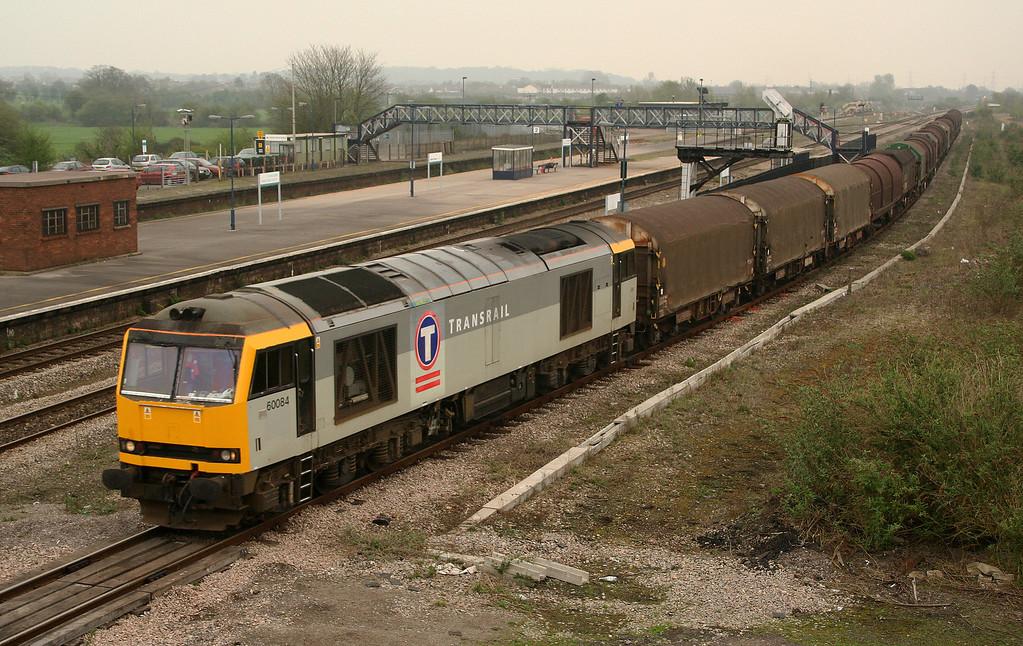 60084, 13.21 Round Oak-Margam, Severn Tunnel Junction, 24-4-06.