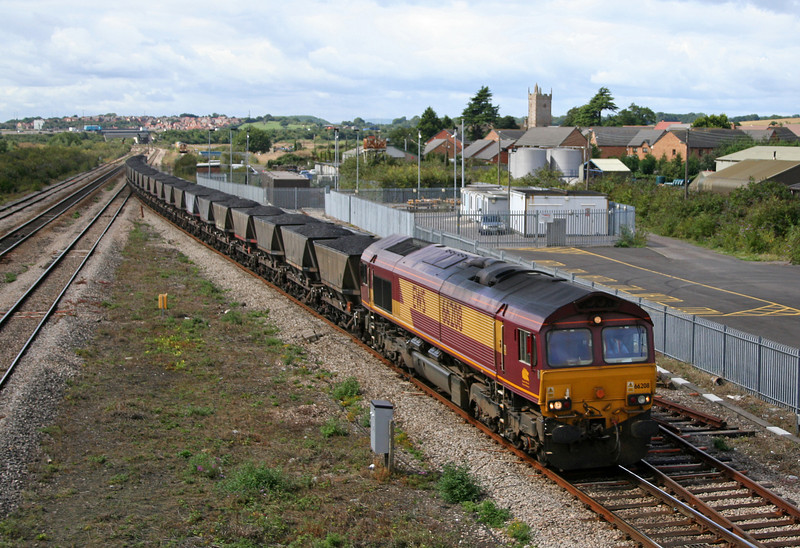 66208, 10.13 Parc Slip-Westbury Cement Works, Severn Tunnel Junction, 29-8-06.