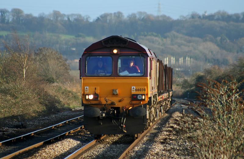 66030, 14.06 Bristol East Depot-Newport Alexandra Dock Junction, Pilning, 6-12-06.