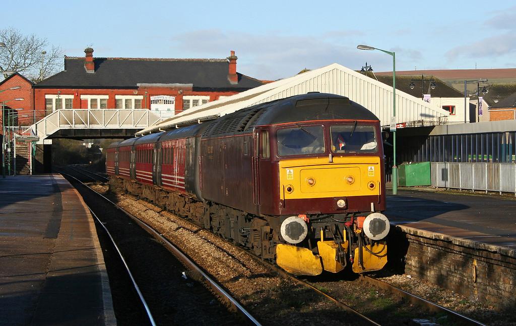47854, Rhymney-Cardiff Central, Caerphilly, 28-2-06.