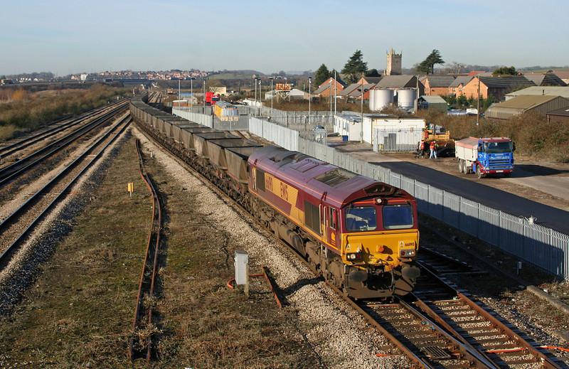 66190, 08.47 Newport East Usk Yard-Portbury, Severn Tunnel Junction, 10-2-06.