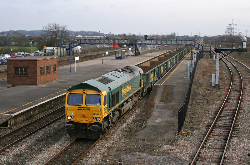 66622, 10.19 Swindon-Moreton-on-Lugg, Severn Tunnel; Junction, 20-2-06.