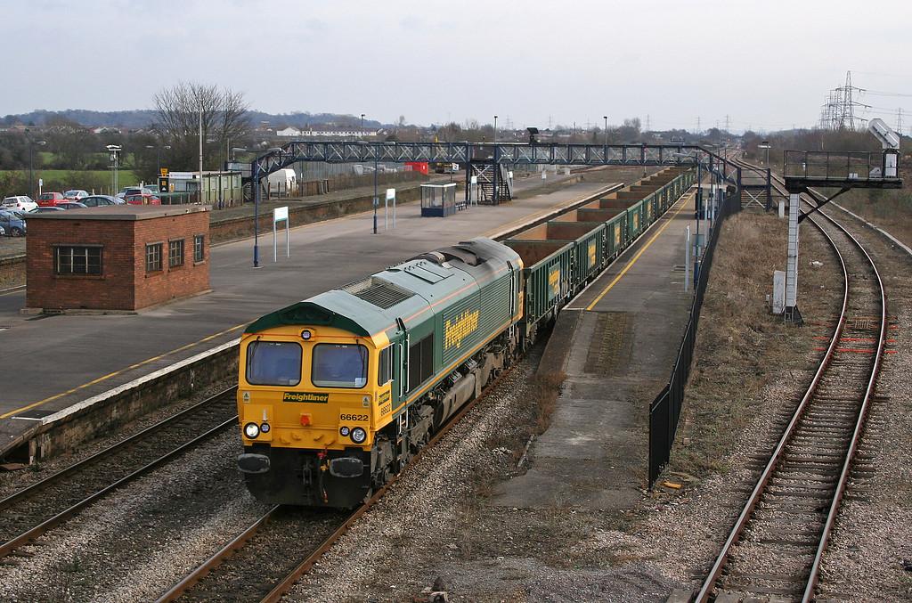 66622, 10.19 Swindon-Moreton-on-Lugg, Severn Tunnel; Junction, 20-2-06.