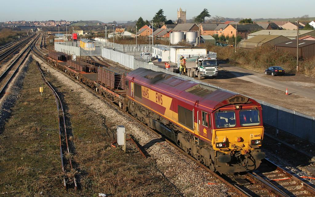 66145, 09.11 Newport Alexandra Dock Junction-Bristol East Depot, Severn Tunnel Junction, 10-2-06.