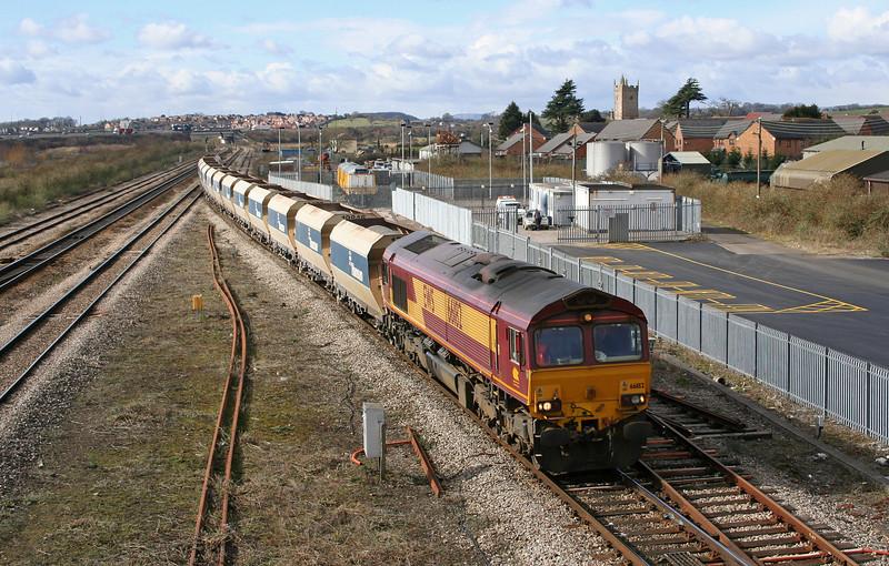 66182, 11.45 Machen-Westbury, Severn Tunnel Junction, 28-2-06.
