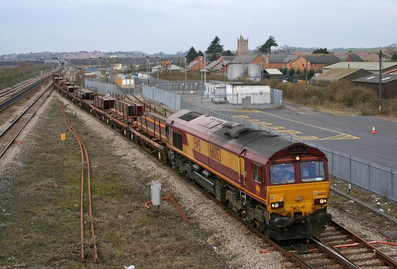 66053, 09.11 Newport Alexandra Dock Junction-Bristol East Depot, Severn Tunnel Junction, 20-2-06.