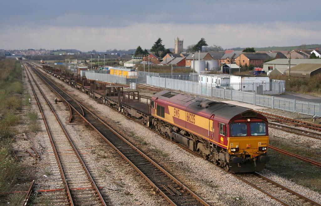 66235, 09.29 Margam-Lackenby, Severn Tunnel Junction, 20-2-06.
