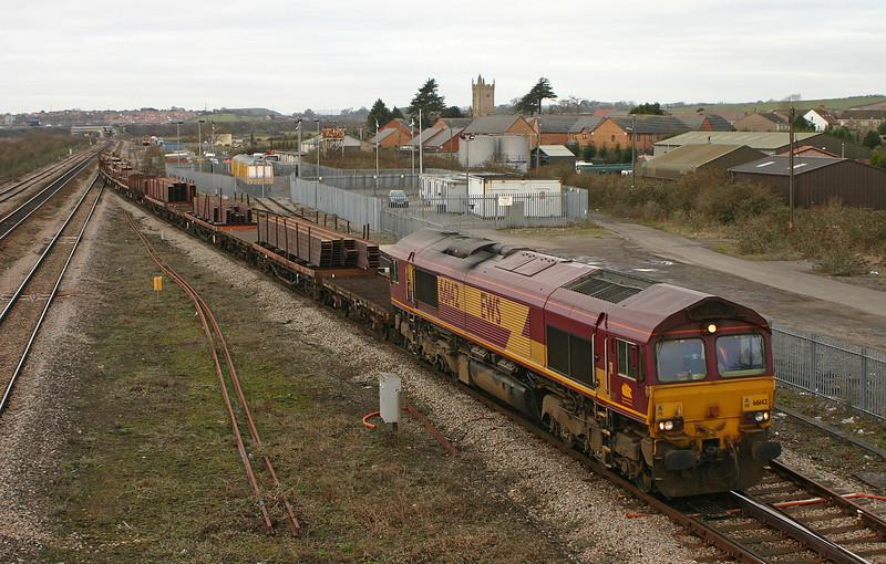 66142, 09.11 Newport Alexandra Dock Junction-Bristol East Depot, Severn Tunnel Junction, 26-1-06.