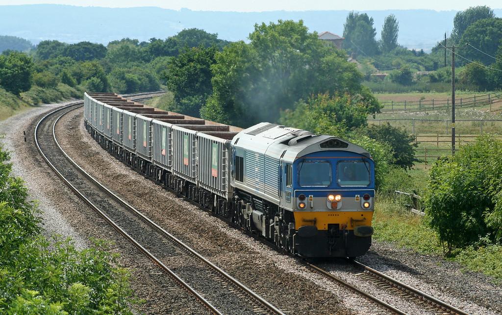 59005, 11.14 Exeter Riverside Yard-Westbury Yard, Cogload Junction, 25-7-06.