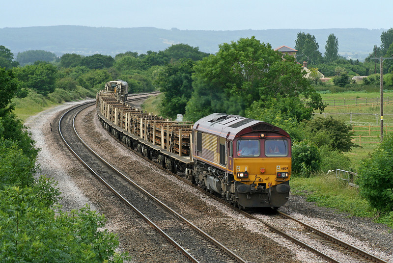 66139/66071, up departmental, Cogload Junction, 21-6-06.