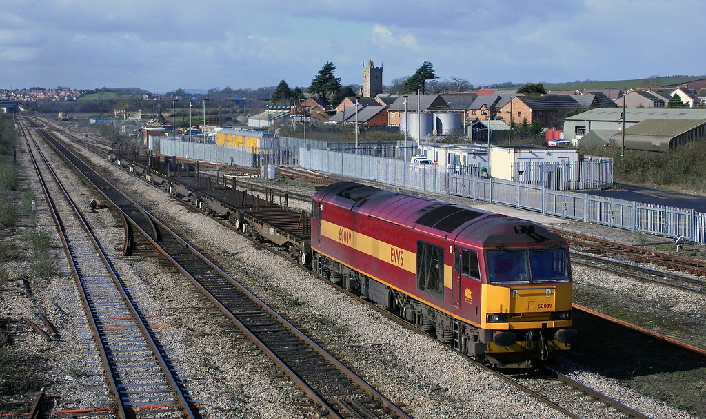 60039, 11.14 Llanwern-Lackenby, Severn Tunnel Junction, 10-3-06.