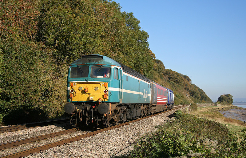 47714, westbound stock move with 43125, Gatcombe, 2-11-06.