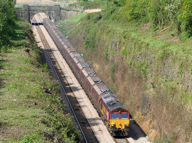 66063, Aberthaw Power Station-Portbury, approaching Severn Tunnel, from Caldicot, 26-4-07.