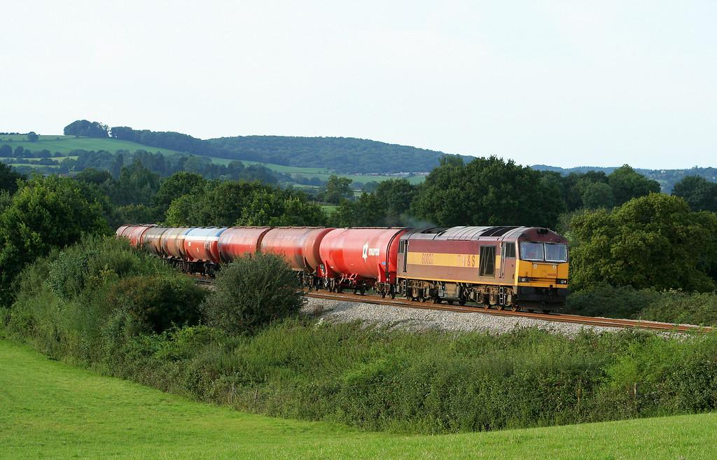 60020, 17.17 Westerleigh-Robeston,  Box Farm, Awre, near Newnham, Gloucestershire, 23-8-07.