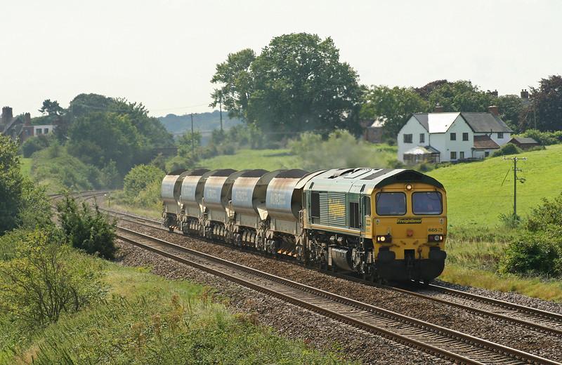 66513, 13.37 Meldon Quarry- Taunton Fairwater Yard, Rewe, near Exeter, 22-8-07.