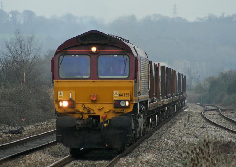 66235, 12.56 Bristol East Depot-Newport Alexandra Dock Junction Yard, Pilning, 1-02-07.